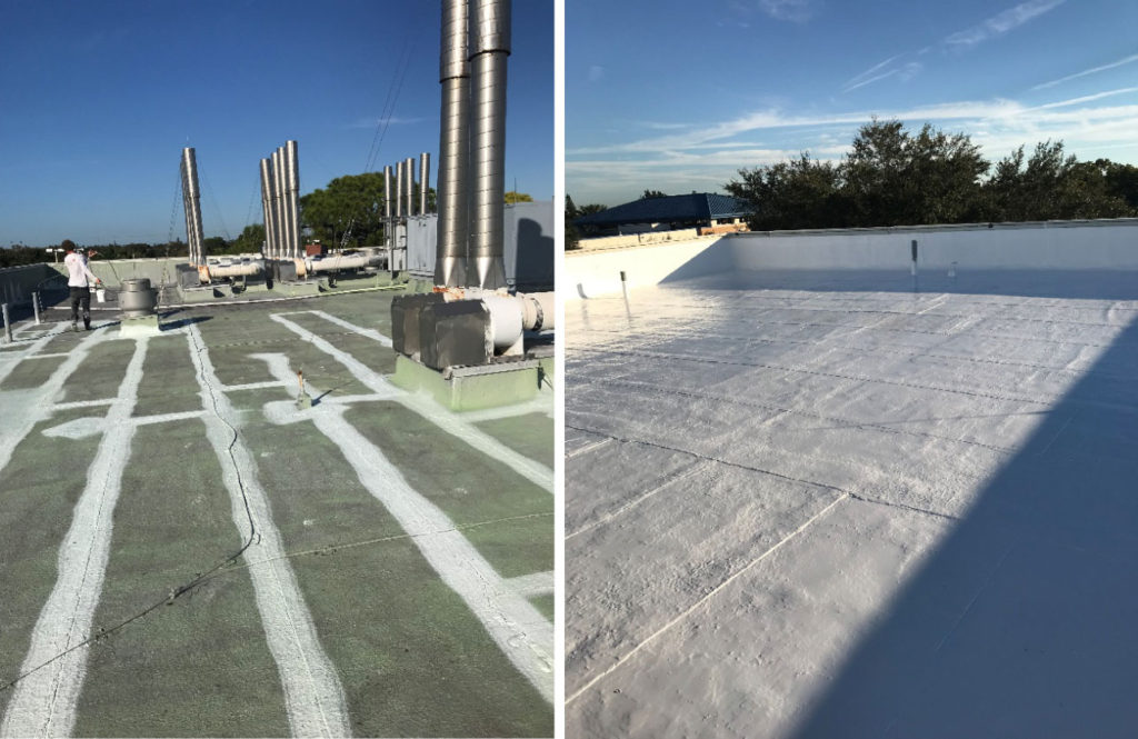 Before After Spf Roofing Photos Us Coating Specialists Llc
